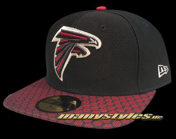 Atlanta Falcons 59FIFTY NFL Sideline 2017 On Field Cap  OTC von New Era frontside