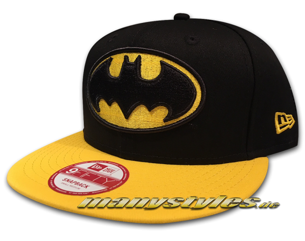 Batman 9FIFTY DC Comic Art  Contrast Hero Snapback Cap Basic Black Yellow von New Era