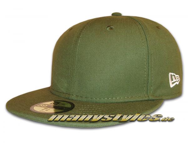 NE Originals Blank New Era Cap without Logo - Rifle Green