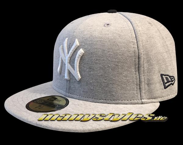 NY Yankees MLB 59FIFTY Felize Navidad Cap Heather Grey White von New Era