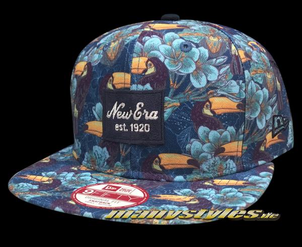 Tropical 9fifty New Era Snapback Cap Tucan Navy Multi Color frontside