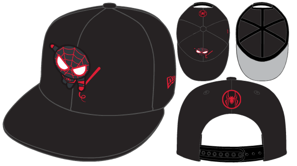 Marvel Comic Spiderman 9FIFTY exclusive Spidermany Snapback Cap Black Red von New Era