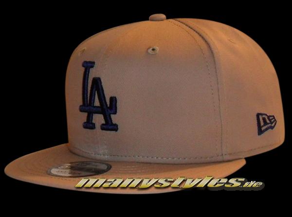 LA Dodgers MLB League Essential 9FIFTY New Era Snapback Cap Camel Navy