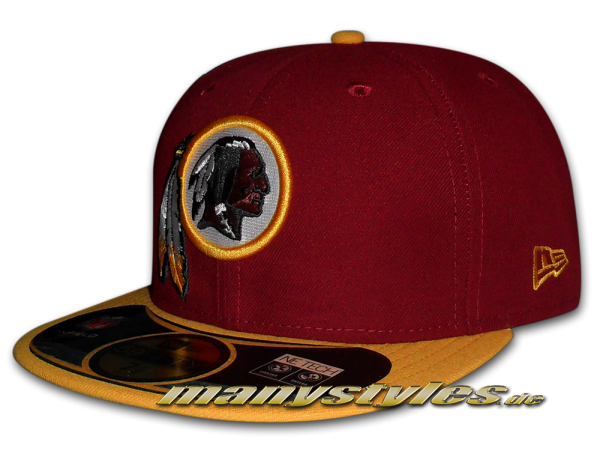 NEW ERA Washington Red Skins 59FIFTY NFL on field Fitted Cap Game