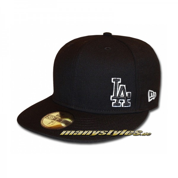 LA Dodgers 59FIFTY MLB Basic Flawless Cap exclusive Black White