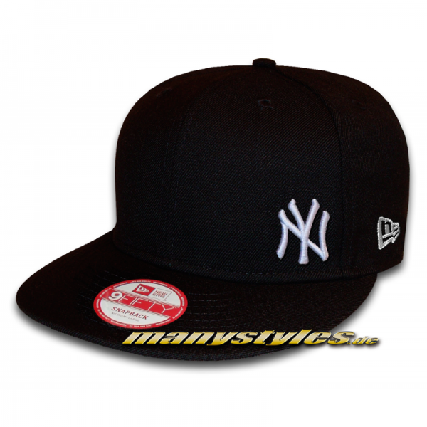 NY Yankees 9FIFTY MLB Flawless Black White Snapback Cap