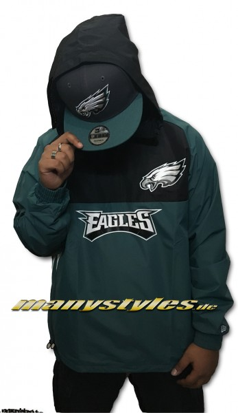 Philadelphia Eagles NFL Color Block Windbreaker OTC Official Team Color Green Black White von New Era