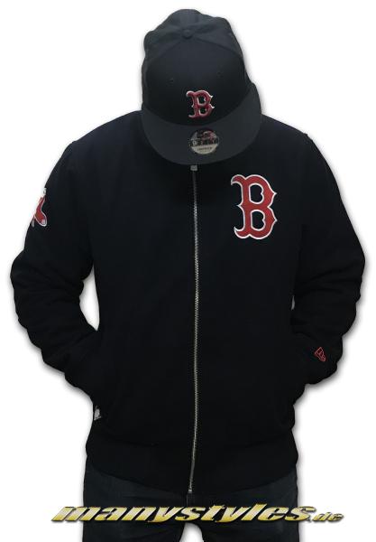 Boston Red Sox College Zip Jacket Navy Red