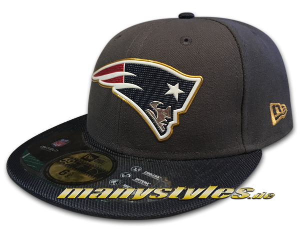 New England PATRIOTS NEW ERA NFL on field 59FIFTY Gold Collection Original Game Authentic Cap
