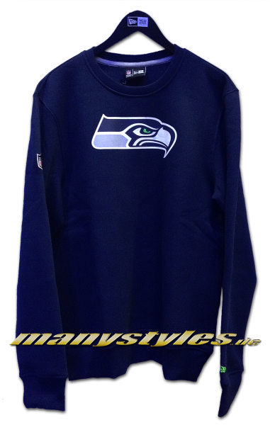 Seattle Seahawks NFL Team Crewneck Sweater Navy Team Color von New Era