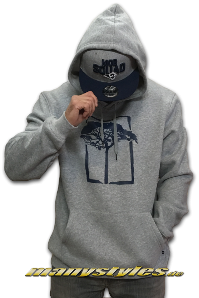 Mahagony T.O.L. Brush Hooded Sweater Grey Melange