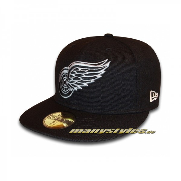NEW ERA Detroit Red Wings NHL Basic Cap Official Logo Black Scarlet Red White Team Color exclusive 59FIFTY