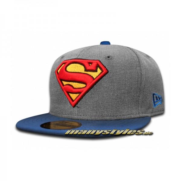 Superman DC Comic 59FIFTY Heather Hero Cap Heather Chambray