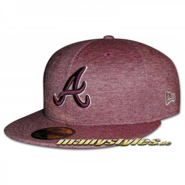 Atlanta Braves 59FIFTY MLB Cap Jersey Fitted Heather Maroon