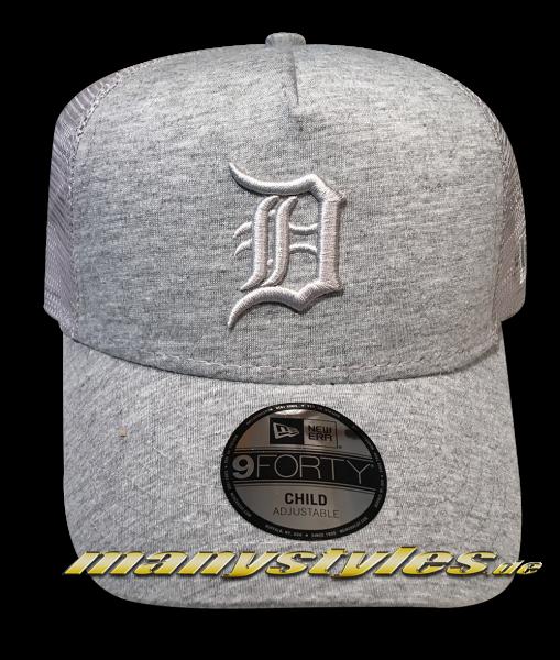 Detroit Tigers 9FORTY MLB AF Trucker Snapback Cap AFRame Curved VisorCap Kids Child Youth Grey von New Era