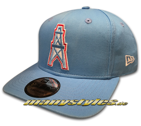 Houston Oilers NFL Historic PreCurved 9FIFTY Cooperstown Classic Snapback Cap 9FIFTY Snapback Cap Sky Blue OTC Original Team Color