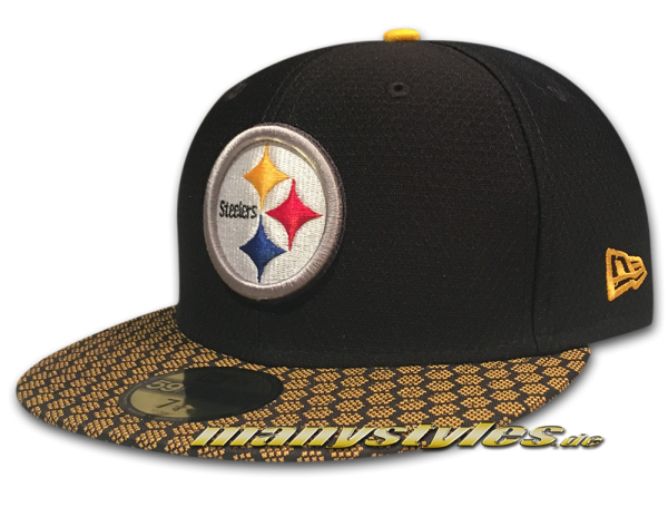 Pittsburgh Steelers 59FIFTY NFL Sideline 2017 On Field Cap