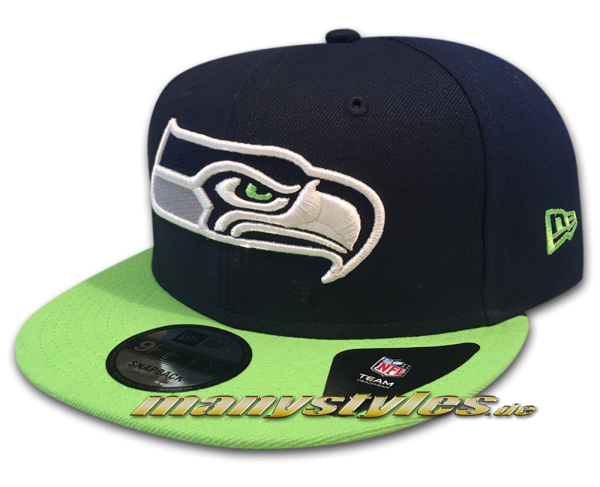 Seattle Seahawks 9FIFTY NFL exclusive Team Classic Snapback Cap frontside