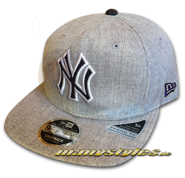 NY Yankees 9FIFTY NFL Heathered Hype OF Original Fit Snapback Cap Original Official Team Color OTC von New Era