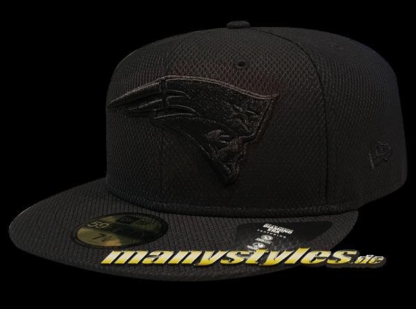 New England Patriots NFL 59FIFTY Diamond Era 5950 Cap Black on Black von New Era