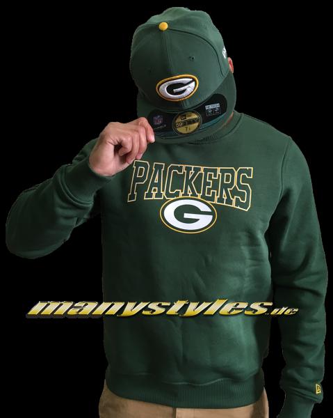 Greenbay Packers NFL Team Script Crewneck Sweater Green Yellow Team Color von New Era
