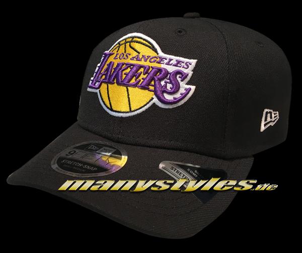 LA Lakers 9FIFTY NBA Stretch Fit Snapback Cap Black Official Team Color OTC von New Era