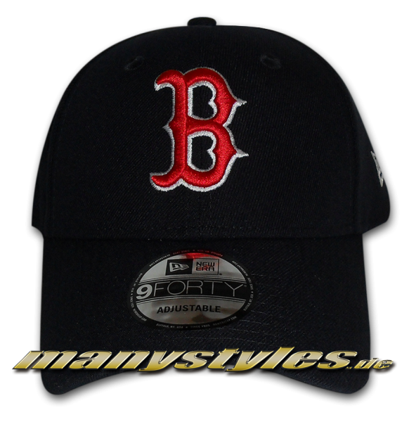 Boston Red SoxThe League Essentials MLB Curved Visor 9Fourty Adjustable Cap von New era