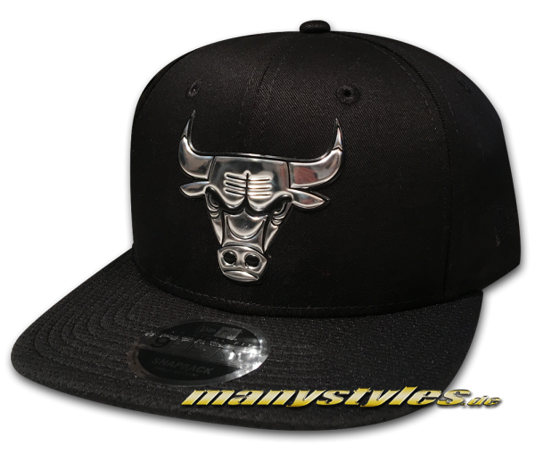 Chicago Bulls NBA 9FIFTY Snapback Cap Liquid Metallic
