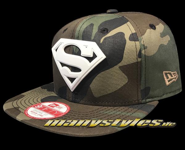 Superman DC Comic 9FIFTY Superman Camo White Metal Snapback Cap
