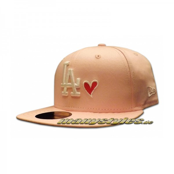 LA Dodgers 59FIFTY Love MLB Cap exclusive Baby Pink White Strawberry