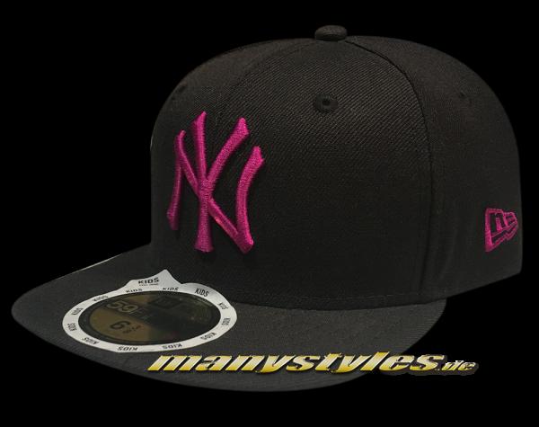 NY Yankees 59FIFTY MLB Basic Cap Black sparkling grape 59FIFTY von New Era