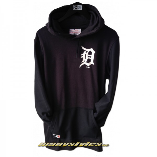 Detroit Tigers MLB RMX PO Long Hooded Sweater Dark Navy White Team Color