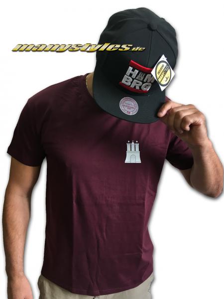 HH Hamburg exclusive T-Shirt Hammaburg Marron White