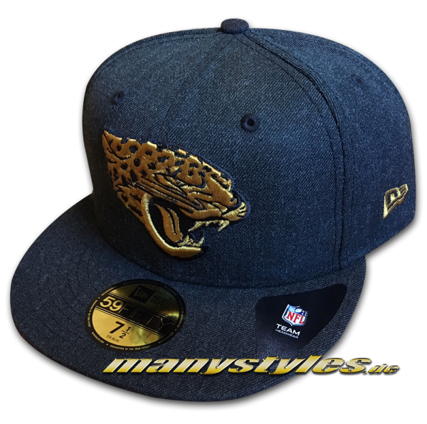 Jacksonville Jaguars NFL5 9FIFTY Fitted Cap Heather Bold Black Denim Gold OTC von New Era