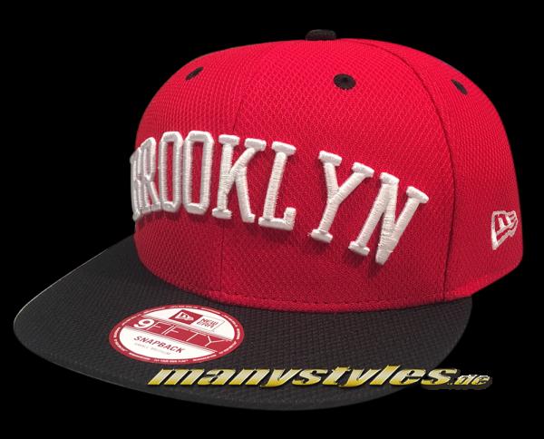Brooklyn Dodgers mlb hwc hardwood classics 9fifty fl sneaker pack new era snapback cap scarlet red black white frontside
