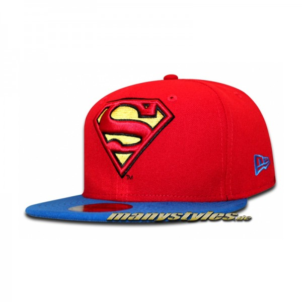 DC Comic Art Superman 59FIFTY Reverse Hero 2 Scarlet Red Royal