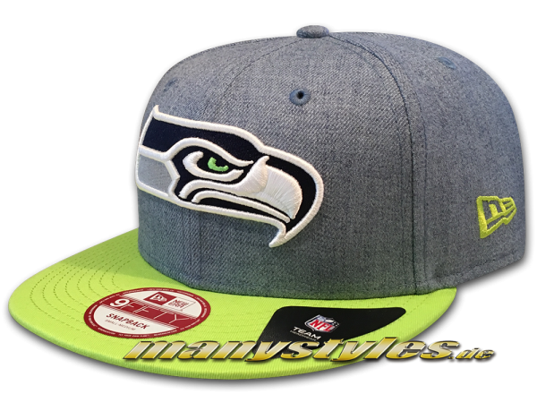 Seattle Seahawks 9FIFTY NFL Heather Contrast Snapback Cap von New Era