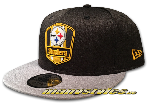 Pittsburgh Steelers 9FIFTY Road NFL Sideline 2018 Snapback Cap von New Era