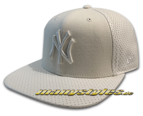 NY Yankees MLB 9FIFTY OF Original Fit Snapback Cap Tonal Perfect Vize White Mesh Suede von New Era