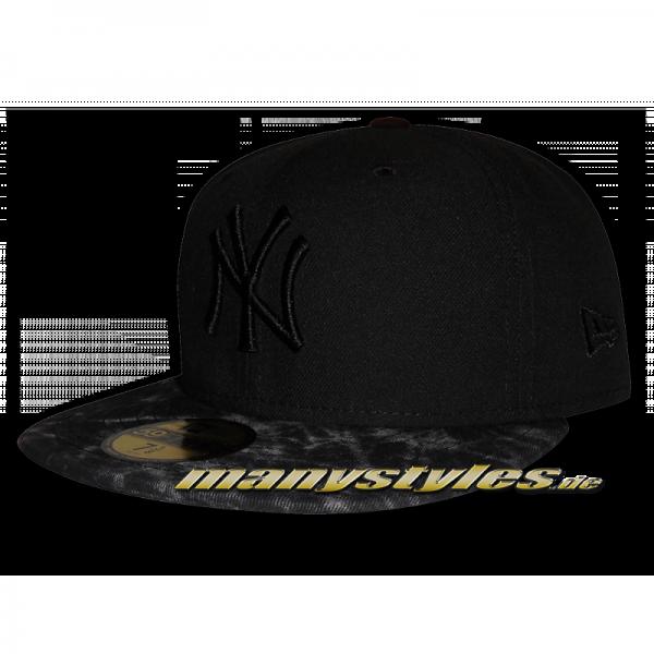 NY Yankees 59FIFTY Acid Contrast Cap (Black on Black)