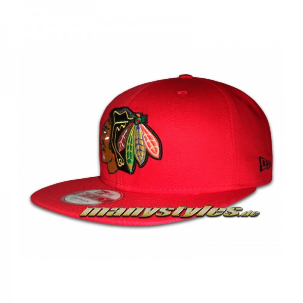 Chicago Blackhawks 9FIFTY Cotton Block Basic Scarlet Red Snapback Cap