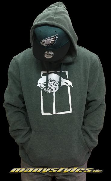 Mahagony T.O.L. Brush Hooded Sweater Green White