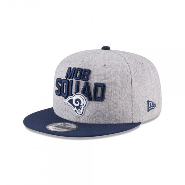 Los Angeles Rams NFL On Stage Draft 2018 9FIFTY Snapback Cap Mob Squad Heather Navy von New Era