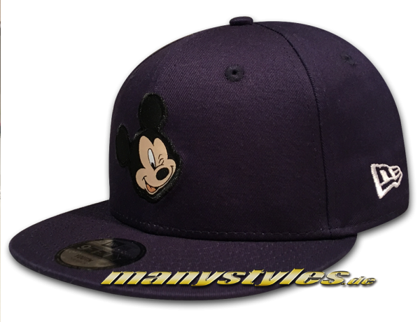 Disney Patch Mickey Mouse 9FIFTY Kids Youth Snapback Cap Navy Black White von New Era