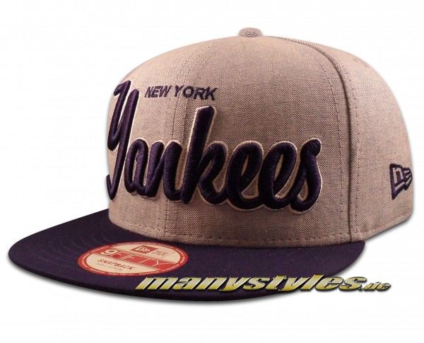NY Yankees 9FIFTY MLB Snapback Cap Retroscholar Navy von New Era