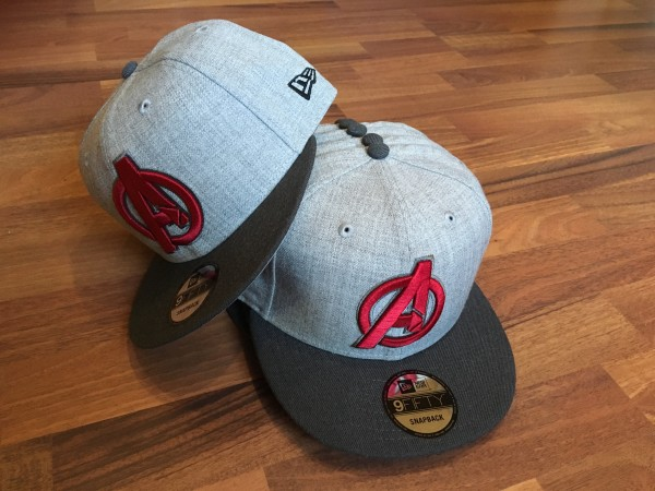 New Era Marvel Comic Avengers Endgame 9FIFTY Snapback Cap Grey Red exclusive SnapbackCap
