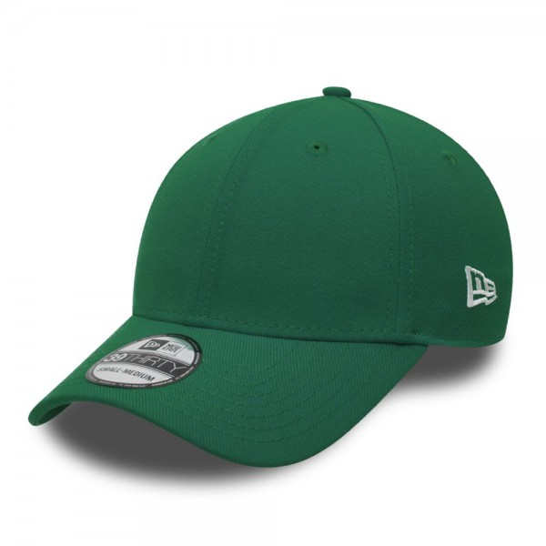39THIRTY Blank Stretch Flex Fit Curved Visor Cap Kelly Green