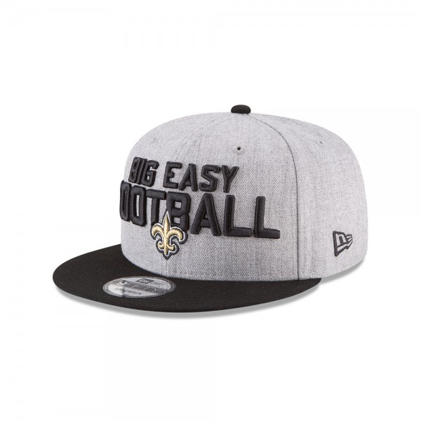 New Orleans Saints NFL On Stage Draft 9FIFTTY Snapback Cap Big Easy Football Heather Black von New Era