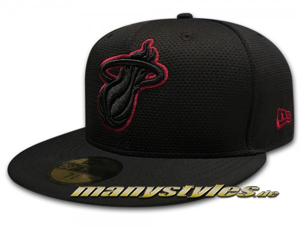 Miami Heat 59FIFTY NBA Cap Diamond Prene Black Scarlet Red von New Era
