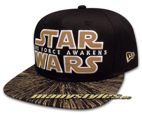 Star Wars Disney Licensed 9FIFTY Original Fit Snapback Cap The Force Awakens Galaxy Word von New era